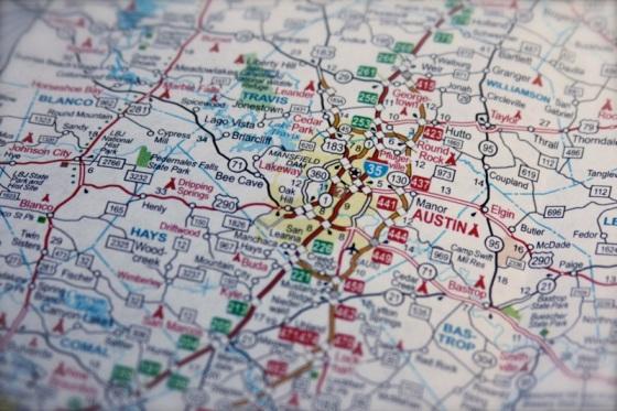 Map of Austin